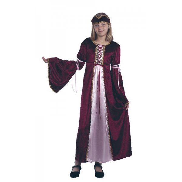 Renaissance-Princess-Costume-Kids-Girls-Tudor-Medieval-Historical-Sizes-3-4-Yrs