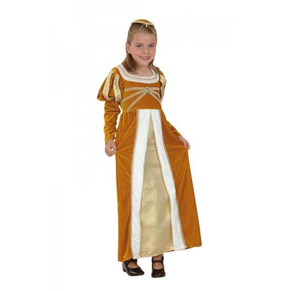 Josephine-Regal-Medieval-Tudor-Gold-Princess-Girls-Fancy-Dress-Costume-5-7-Yrs