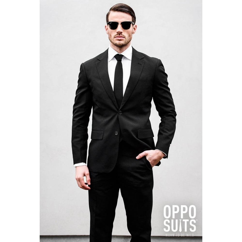 OPPOSUITS OPPOSUIT CLASSIC BLACK WHITE NAVY MENS SUIT STAG PARTY ...