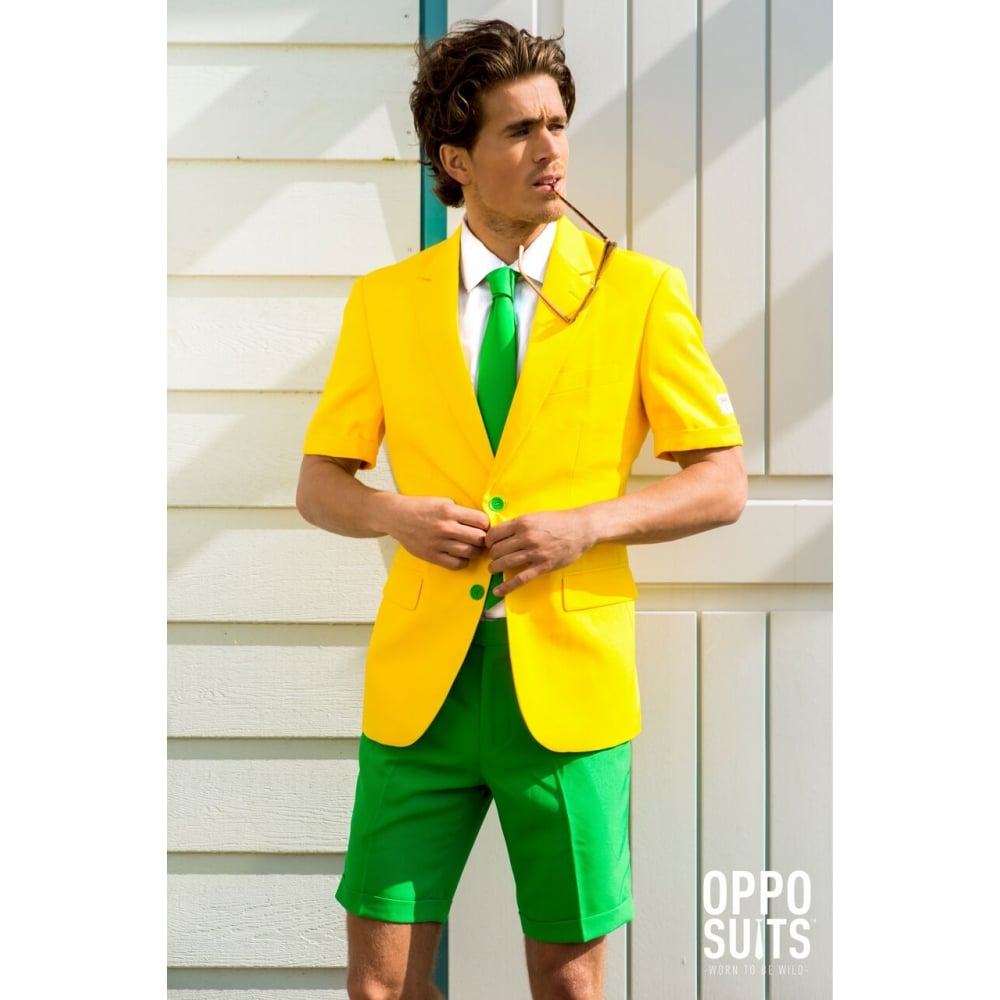 Mens Adult Opposuits Summer Style Shorts Jacket Tie Party Prom Stag ...