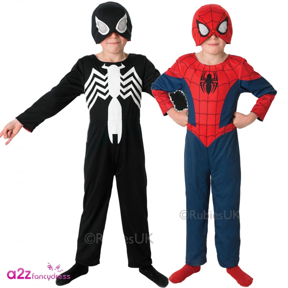 BOYS SPIDERMAN ULTIMATE AMAZING SPIDER-MAN SUPERHERO FANCY DRESS ...