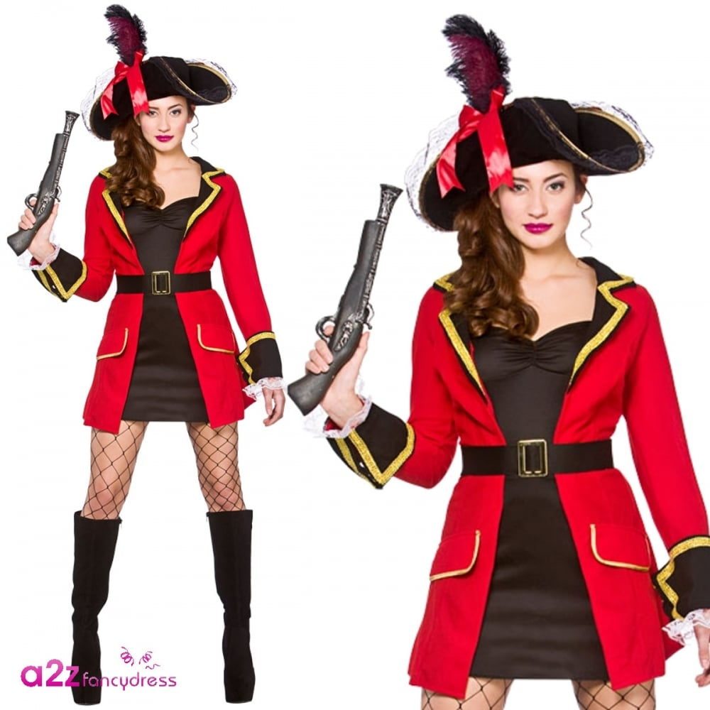 LADIES PIRATE CAPTAIN BUCCANEER SHIPMATE HEN PARTY ADULT