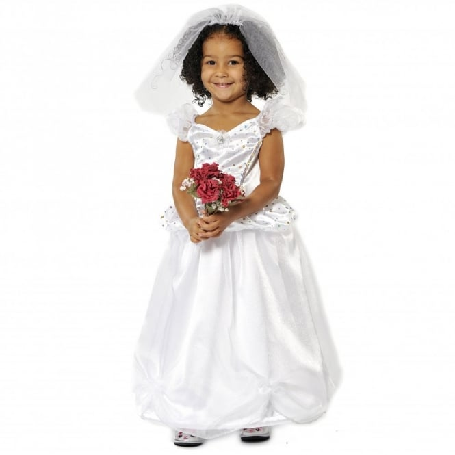 Bride Wedding Dress - Kids Costume
