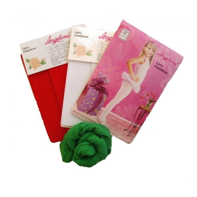 White, Red or Green Tights - Kids Accessory