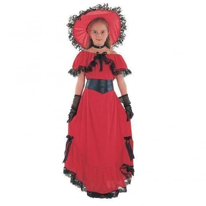 Victorian Girl Scarlet (Red) - Kids Costume