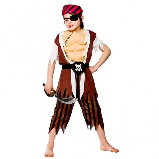 Muscle Chest Pirate- Kids Costume