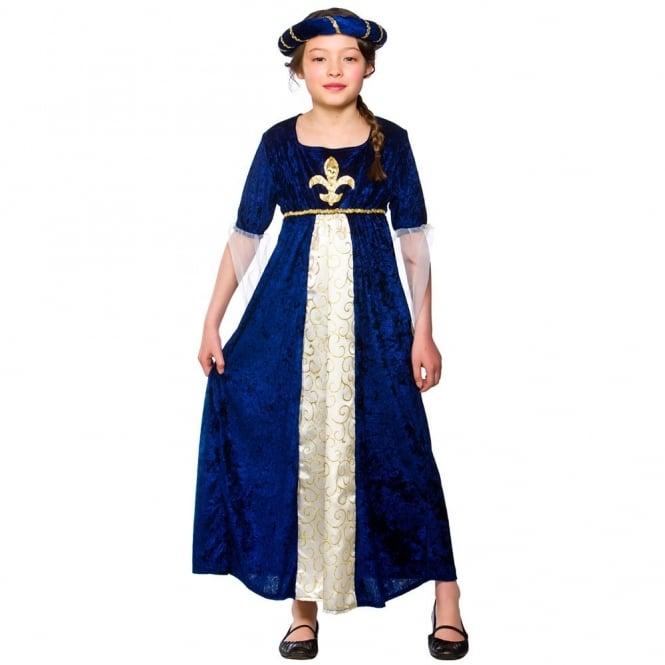 Tudor Princess (Blue) - Kids Costume