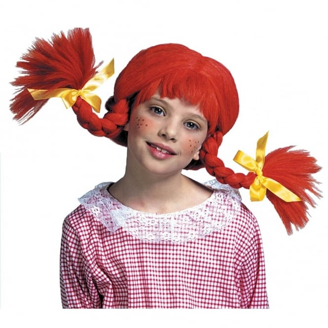 Naughty Girl Orange Wig With Bendable Plaits - Kids Accessory