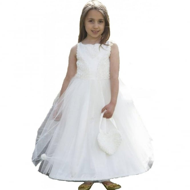 Ivory Deluxe Floral Ballgown - Kids Costume