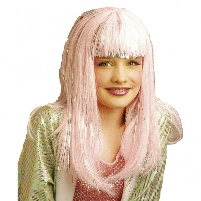 Fairy Princess Pink & Silver Wig - Kids Accessory