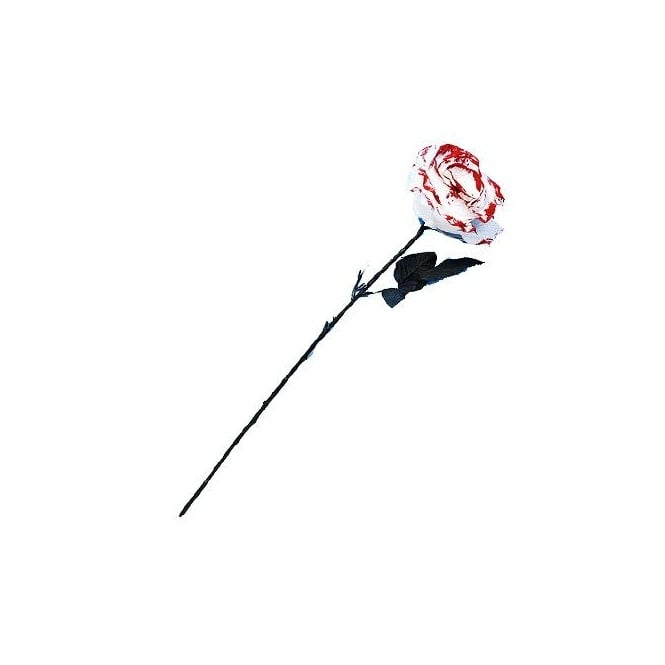 White Rose With Blood Petals - Accessory