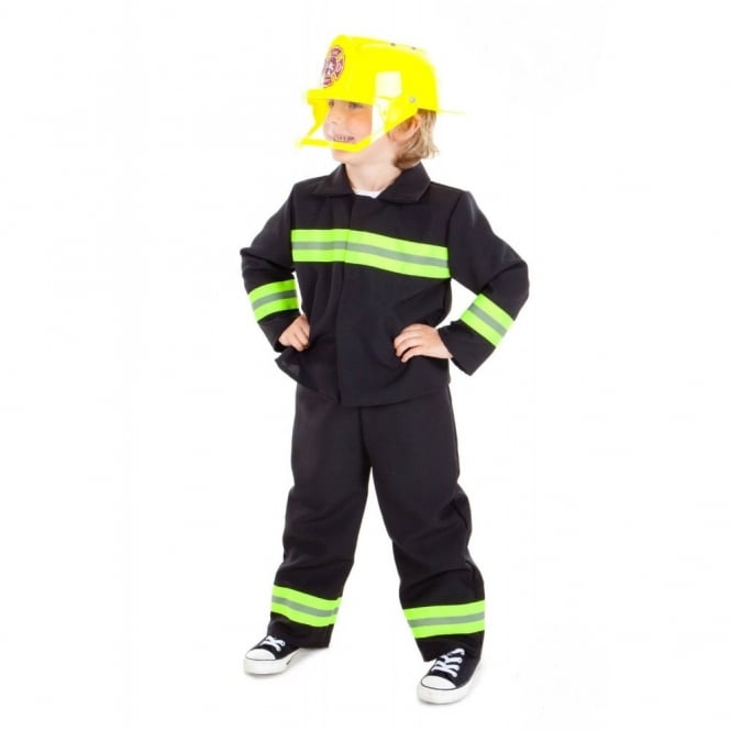 Fire & Rescue Officer With Helmet - Kids Costume