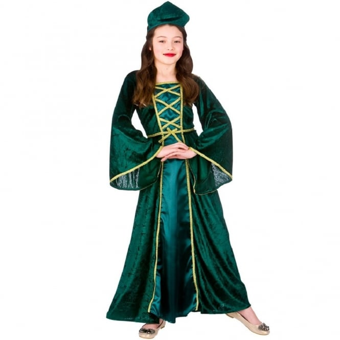 Green Medieval Princess - Kids Costume