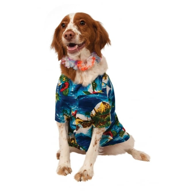 Luau Hawaiian Dog Costume - Pet Accessory
