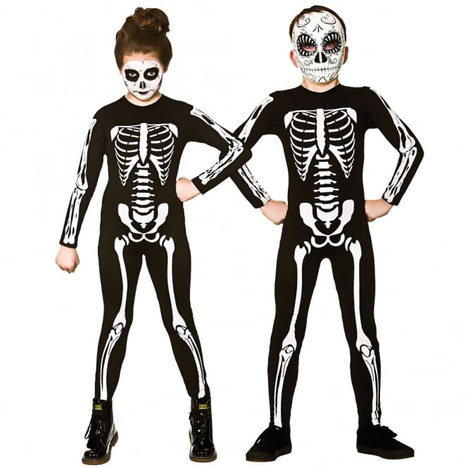 Skeleton Jumpsuit - Unisex Kids Costume