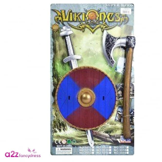Viking or Crusader Sword Shield And Axe Set – Accessory