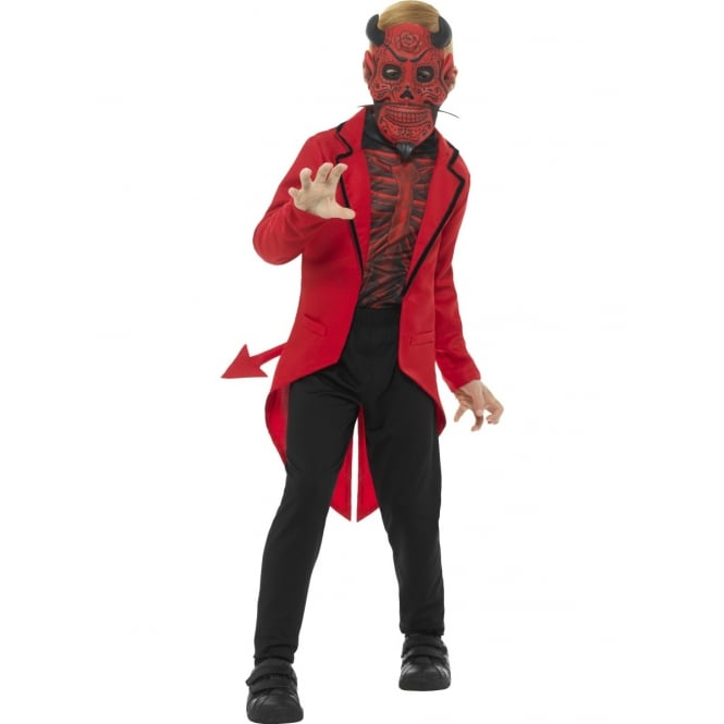 Deluxe Day of the Dead Devil - Kids Costume