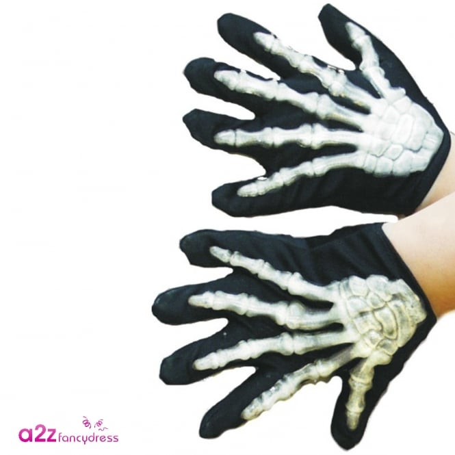 Young Skeleton Gloves - Kids Accessory