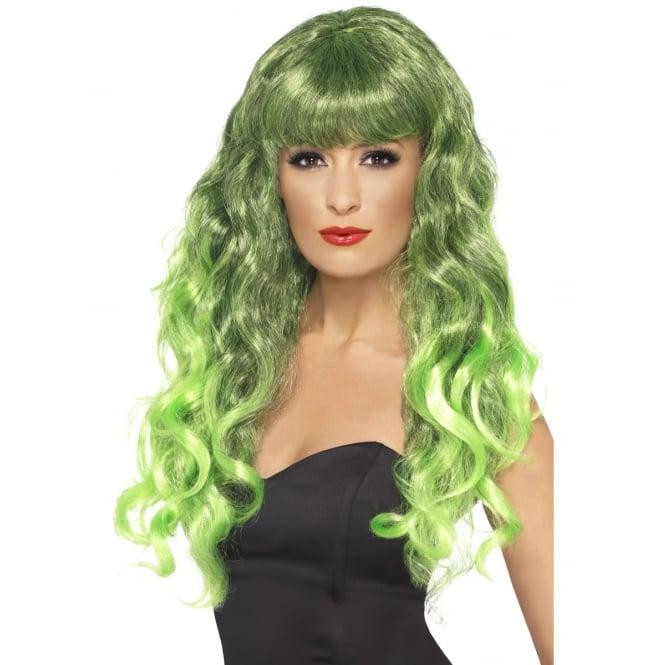 Siren Wig (Green) - Adult Accessory