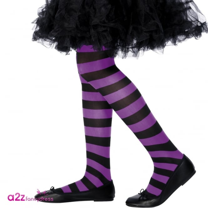 Tights (Purple & Black) - Kids Accessory