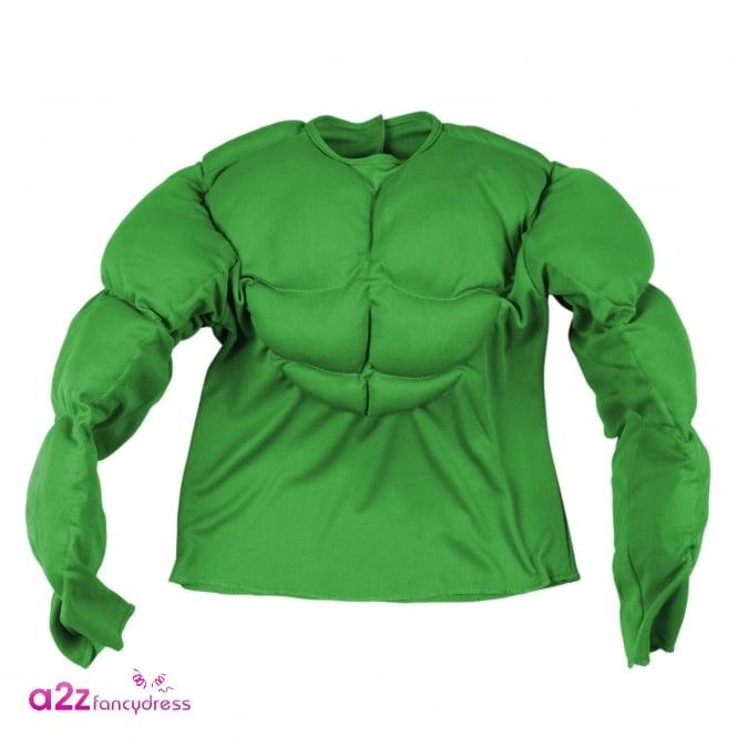 Green Super Muscle Shirt - Kids Costume
