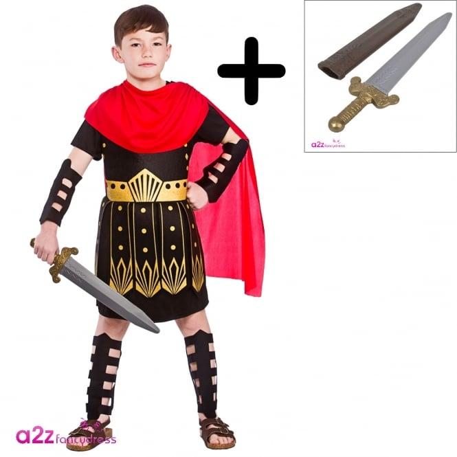 Roman Commander - Kids Costume Set (Costume, Sword)
