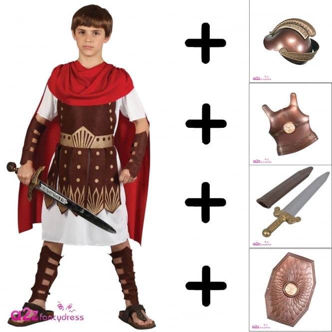 Roman Centurion - Kids Costume Set (Costume, Roman Armour Set)