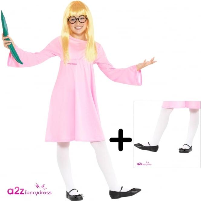 ROALD DAHL ~ Sophie - Kids Costume Set (Costume, Tights)
