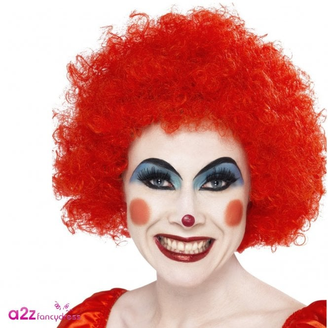 Crazy Clown Wig (Red) - Adult Accessory