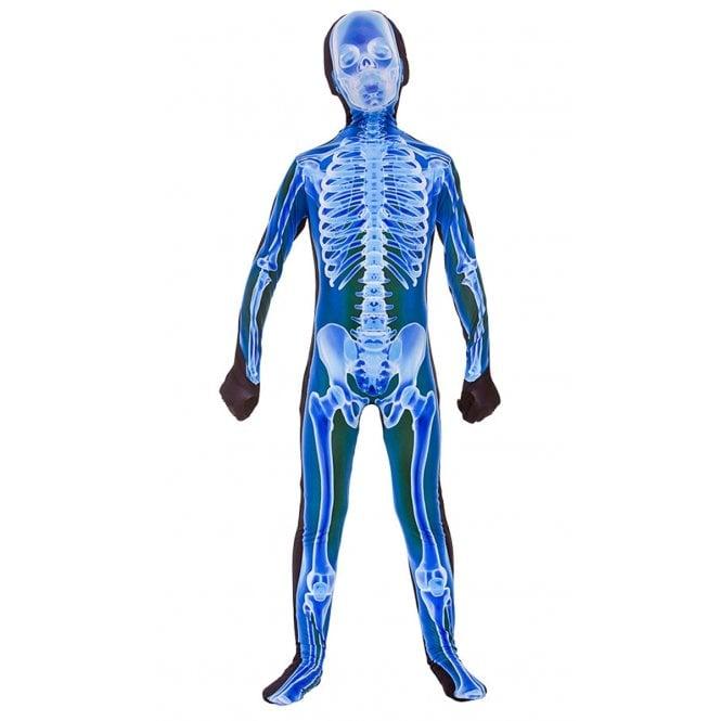 CHILD Blue X-Ray Skinz - Kids Costume