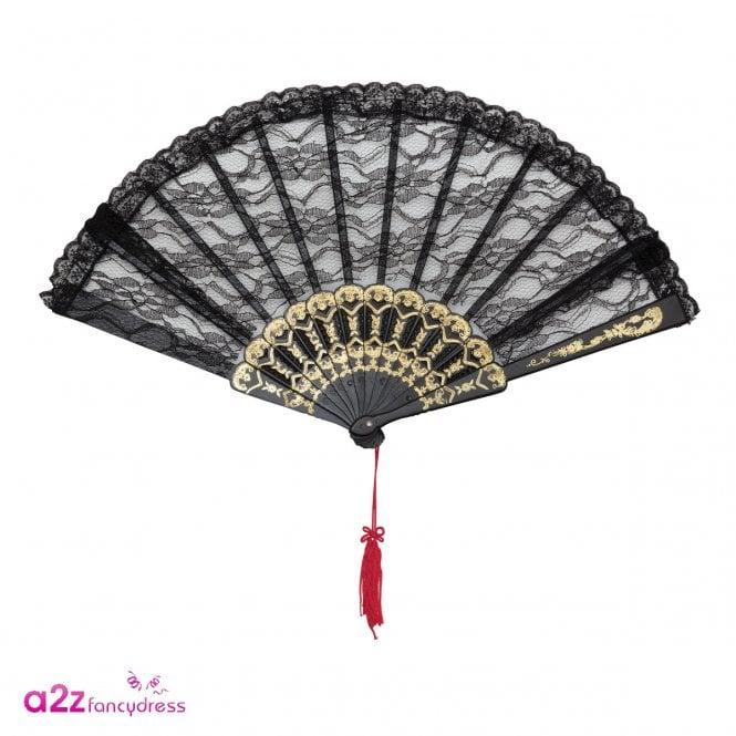 Black Lace Fan - Accessory