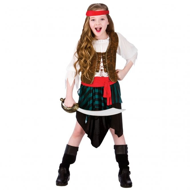 Caribbean Pirate Girl - Kids Costume