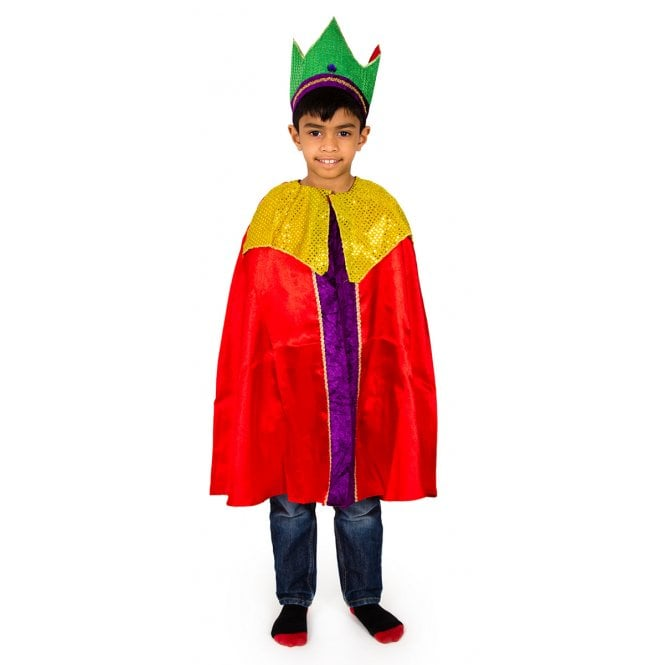 Red King Cloak or Wise Man Melchoir - Kids Costume