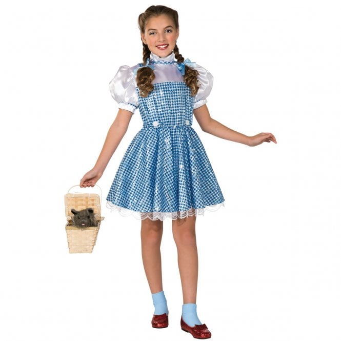 THE WIZARD OF OZ ~ Dorothy Sequin Dress - Kids Costume
