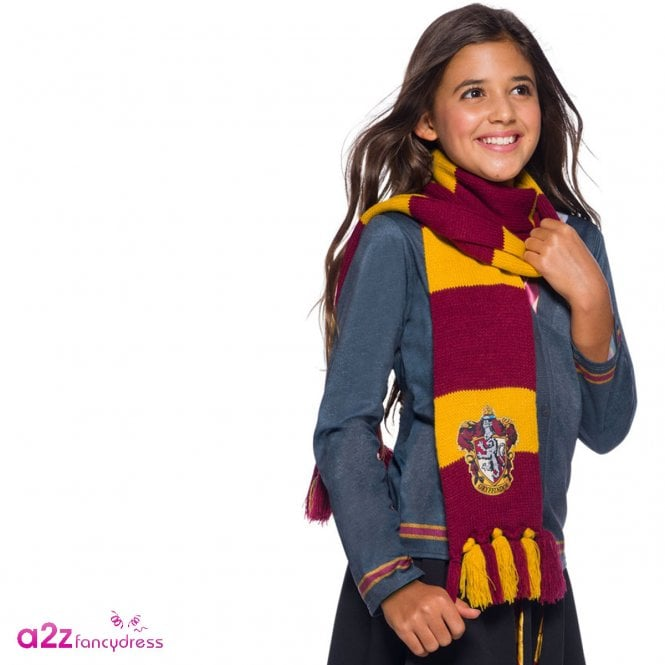 HARRY POTTER ~ Gryffindor Deluxe Scarf With Embroidered Badge - Accessory