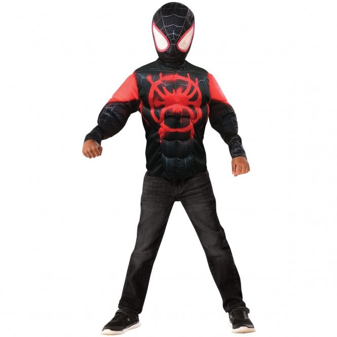 SPIDERMAN ~ Miles Morales (Spider-Man - Into The Spider-Verse) - Kids Costume Top Set