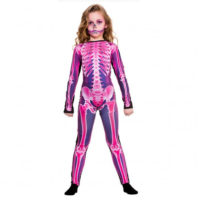 X- Ray Jumpsuit (Pink) - Kids Costume
