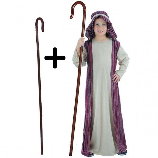 Shepherd - Kids Costume Set (Costume, Brown Crook)