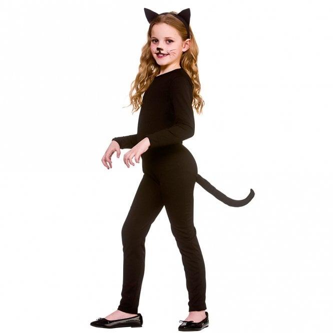 Black Cat - Kids Costume (Catsuit, Tail, Ears)