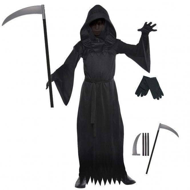 Phantom of Darkness - Kids Costume Set (Costume, Black Gloves, Scythe)