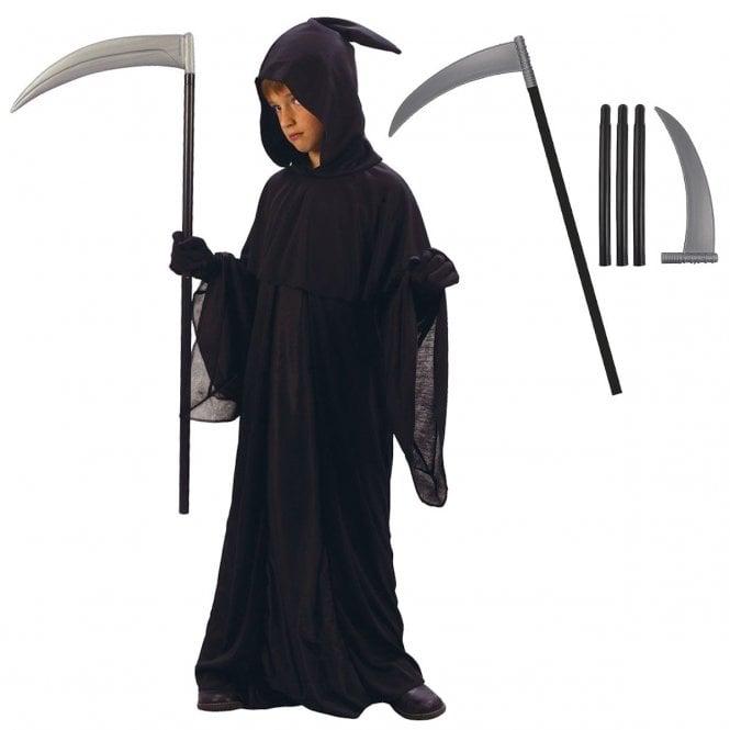 Grim Reaper - Kids Costume Set (Costume, Scythe)