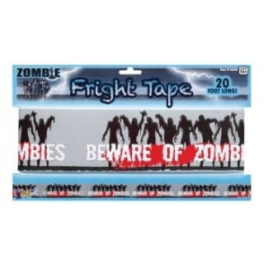 Pack of 5 Zombie Fright Tapes - Halloween Decoration Accessory