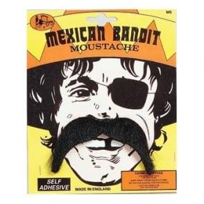 Mexican Bandit Black Moustache - Adult Accessory