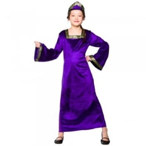Tudor Princess (Purple) - Kids Costume
