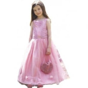 Pink Deluxe Floral Ballgown - Kids Costume