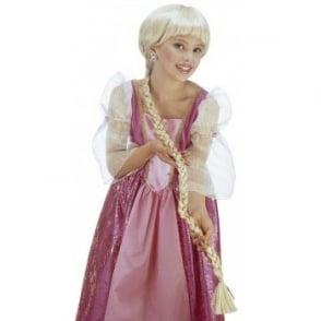 Rapunzel Wig With Plait - Kids Accessory