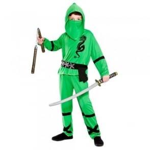 Green Power Ninja - Kids Costume
