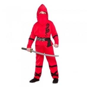 Red Power Ninja - Kids Costume