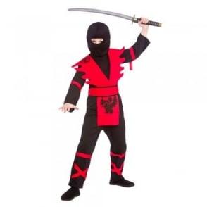 Black & Red Ninja Assassin - Kids Costume
