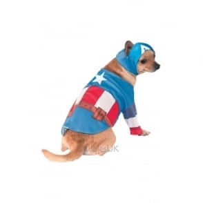 Captain America Dog Costume - Pet Accessory